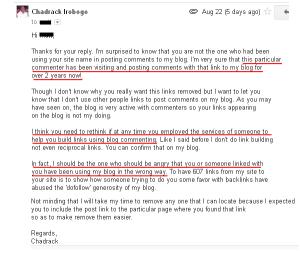 Blog commenting for backlinks