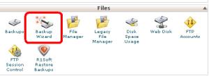 BackUp database using file manager