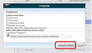 confirm compress of the folder