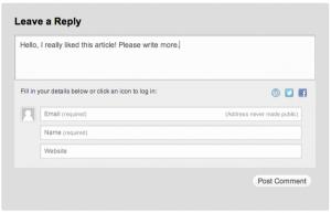 Jetpack wordpress comments