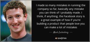 Mack Zuckerberg on making mistakes